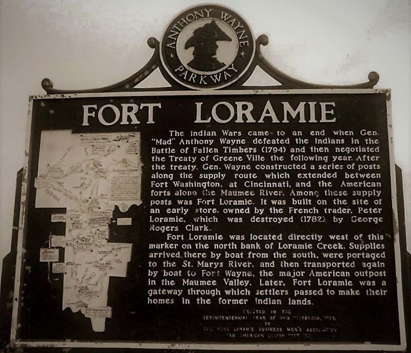 Fort Loramie Marker image. Click for full size.