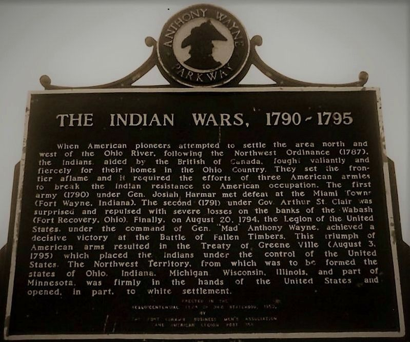 The Indian Wars, 1790- 1795 Marker image. Click for full size.