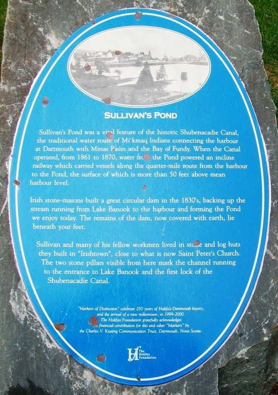 Sullivan's Pond Marker image. Click for full size.