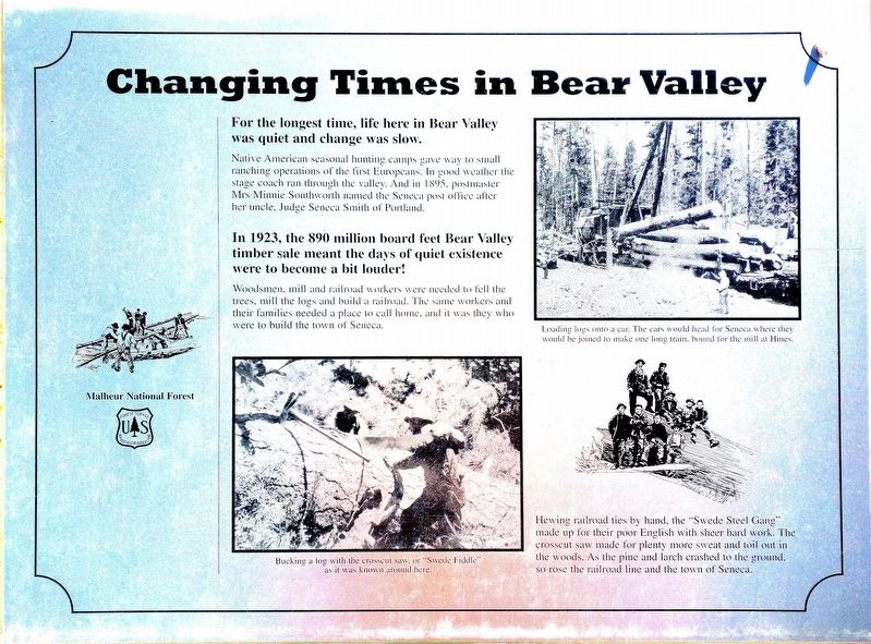 Changing Times in Bear Valley Marker image. Click for full size.