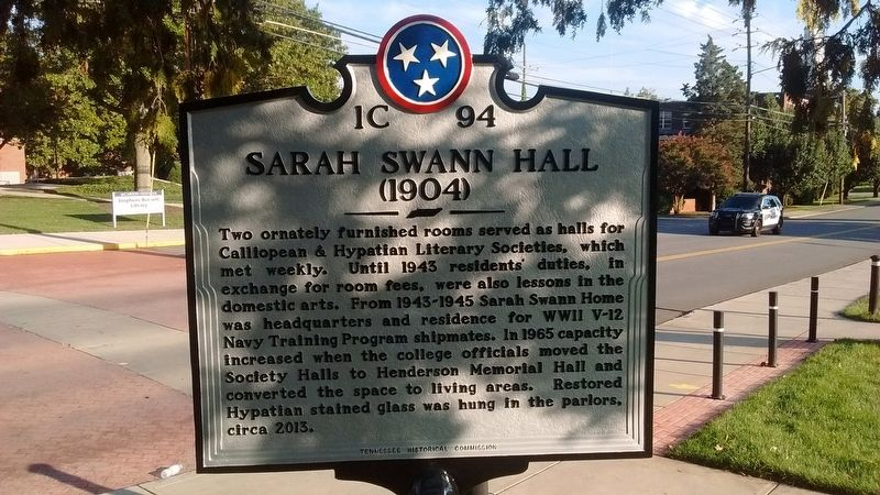 Sarah Swann Hall Marker (Side 2) image. Click for full size.