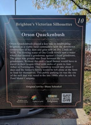 Orson Quackenbush Marker image. Click for full size.