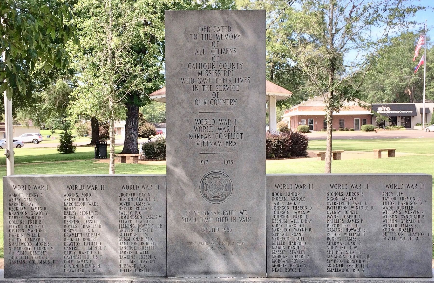 Calhoun County War Memorial image. Click for full size.