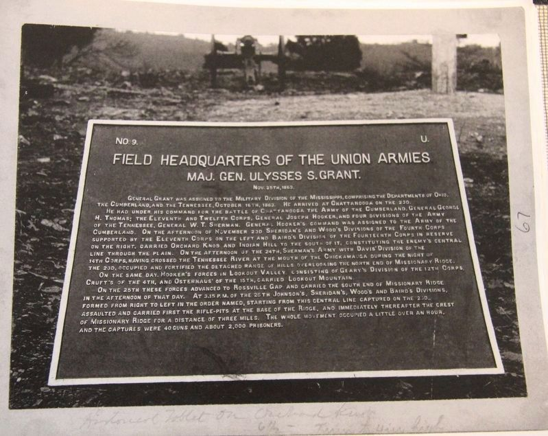 Field Headquarters of the Union Armies Marker image. Click for full size.