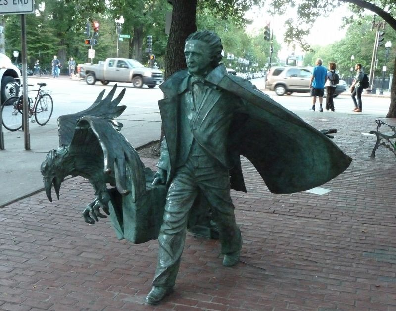 Front View of Poe Statue image. Click for full size.