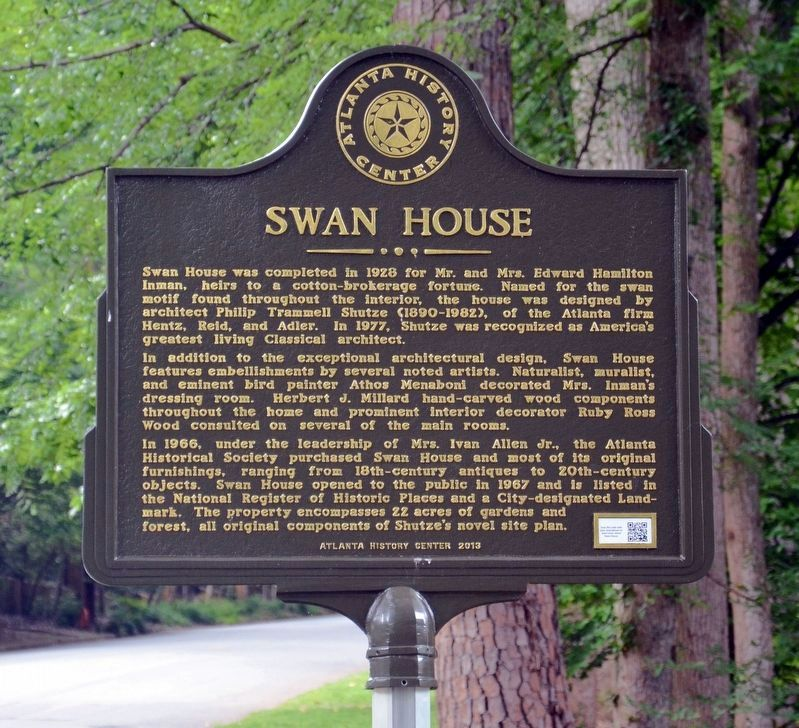 Swan House Marker image. Click for full size.