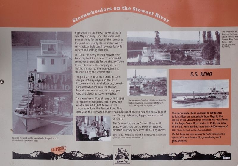 Sternwheelers on the Stewart River Marker image. Click for full size.