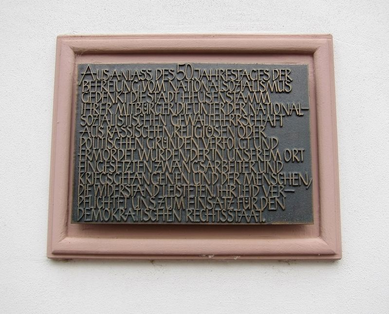 Heusenstamm World War II Victims Memorial Marker image. Click for full size.