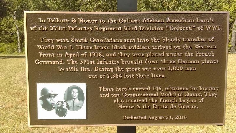 In Tribute & Honor to the Gallant African American Heroes Marker image. Click for full size.