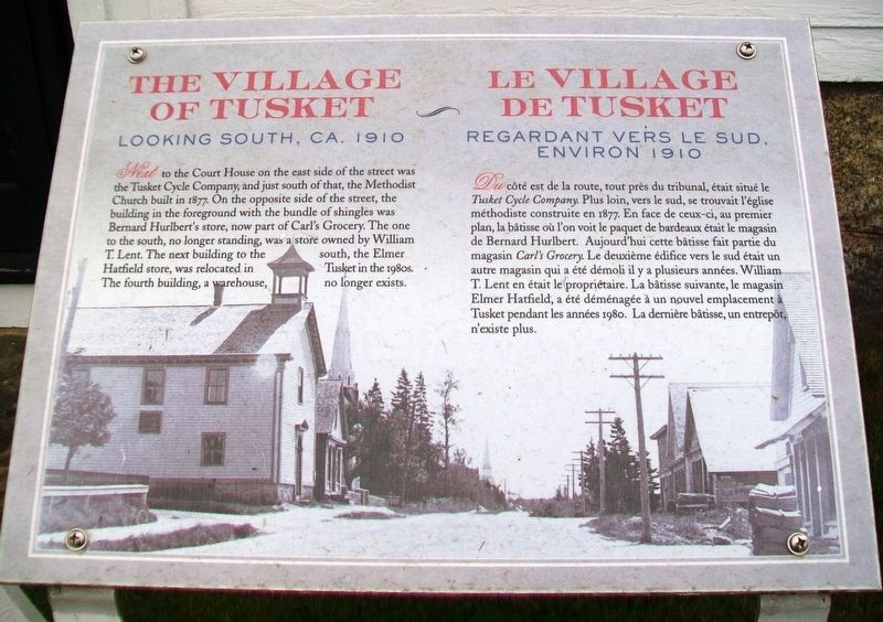 The/Le Village of Tusket Marker image. Click for full size.