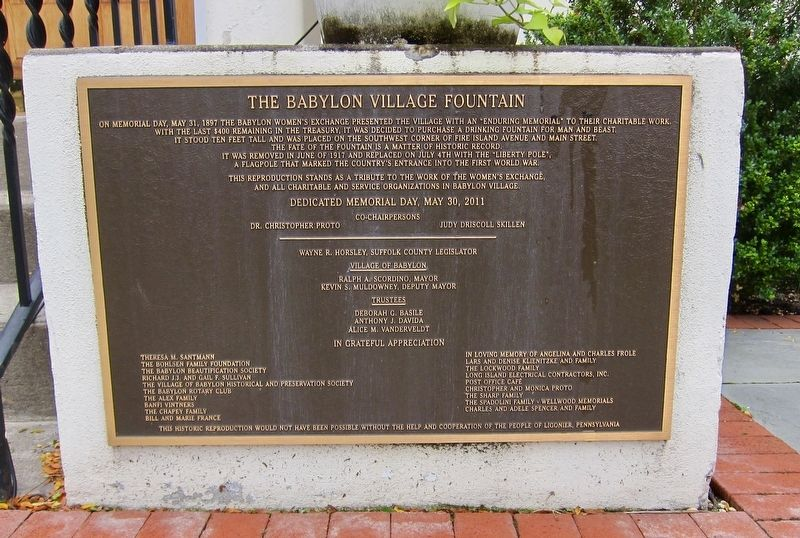 The Babylon Village Fountain Marker image. Click for full size.