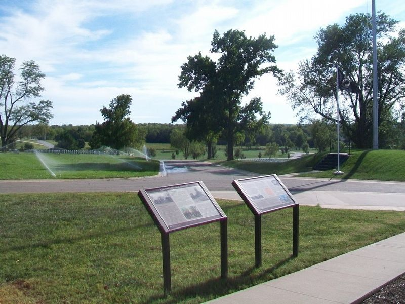 Fort Scott National Cemetery and A National Cemetery System Markers image. Click for full size.