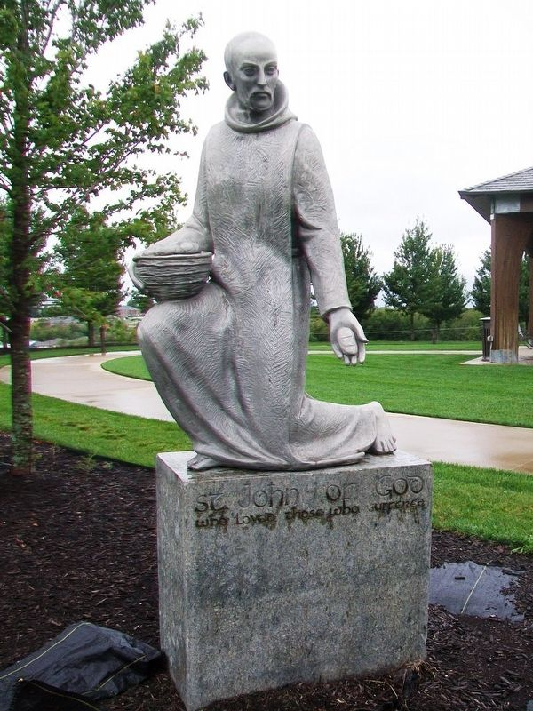 Saint John Statue in Mercy Park image. Click for full size.