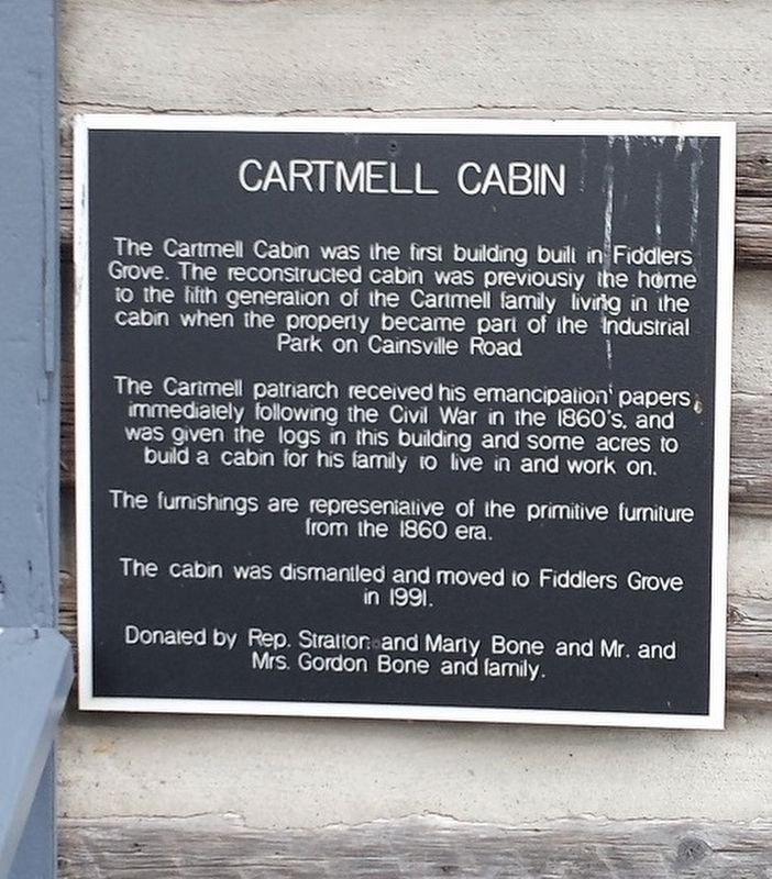 Cartmell Cabin Marker image. Click for full size.
