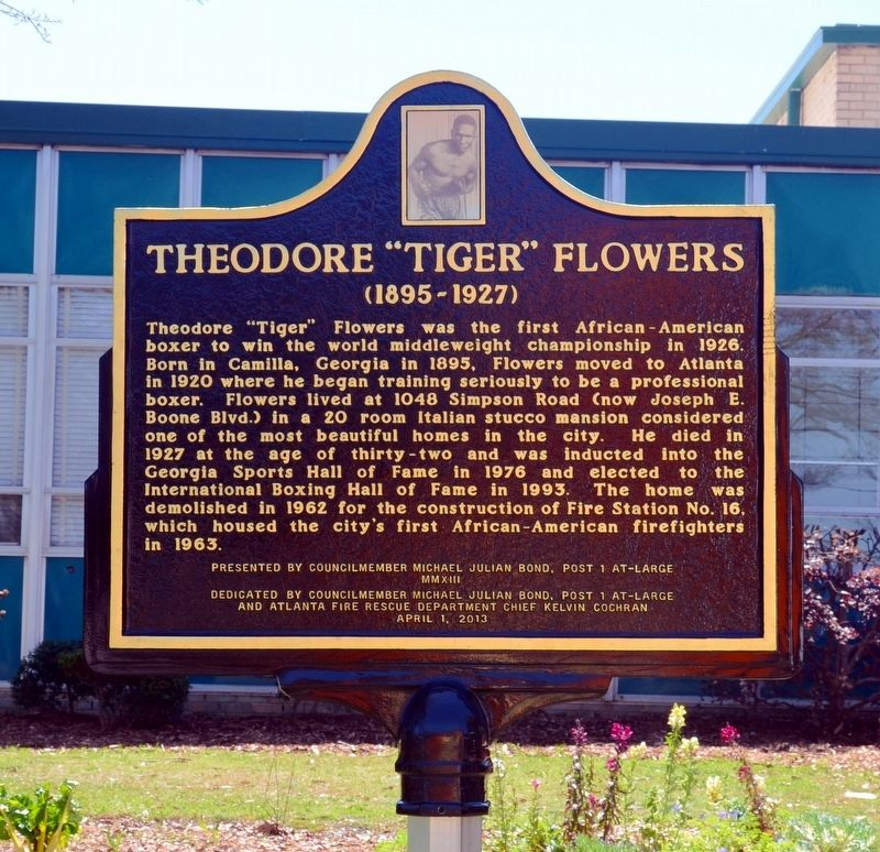 "Theodore ""Tiger"" Flowers Marker image. Click for full size."