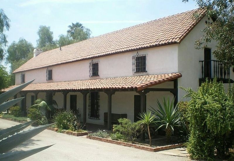 Andres Pico Adobe, marker is located on this side. image. Click for full size.