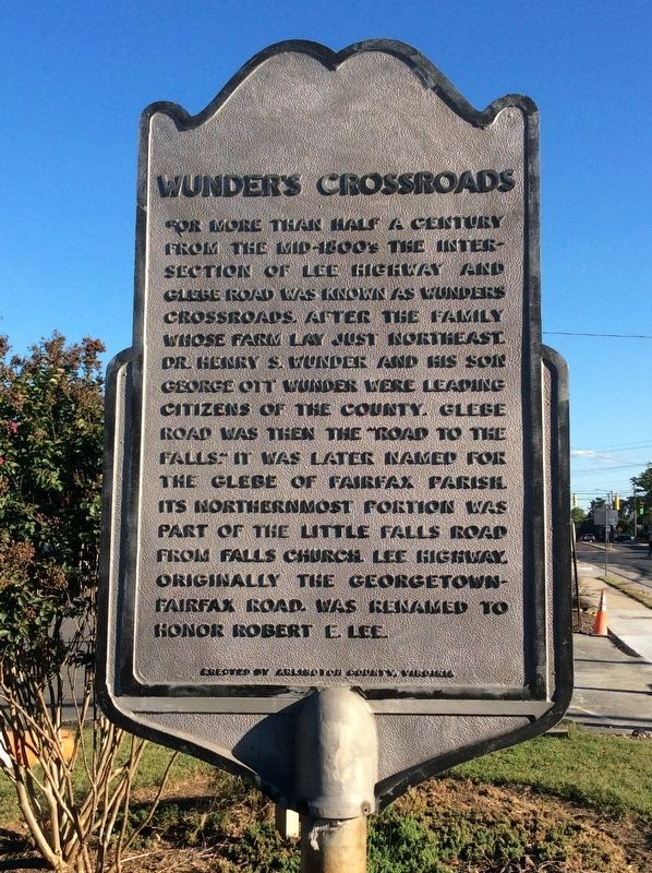 Wunder's Crossroads Marker image. Click for full size.