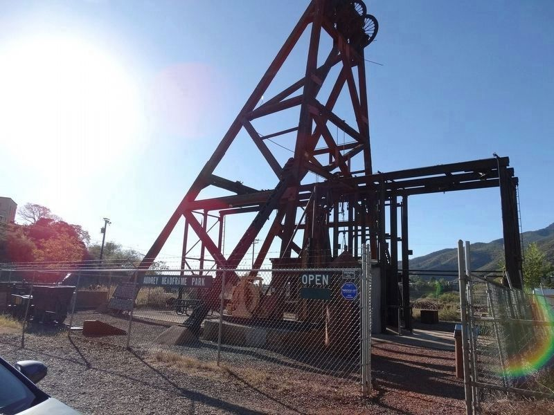 The Audrey Shaft and UVX Operations Headframe image. Click for full size.