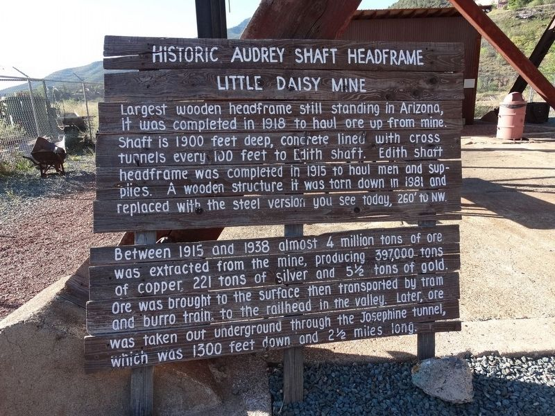 Historic Audrey Shaft Headframe Marker image. Click for full size.