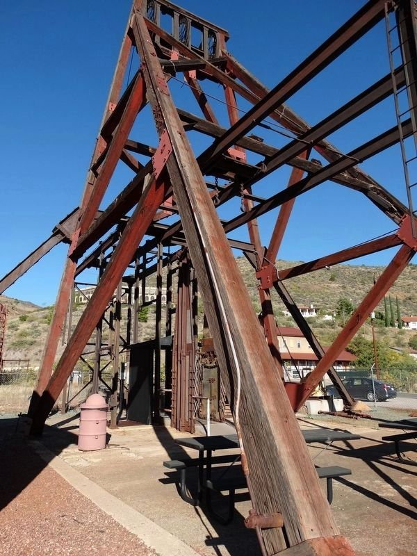 Historic Audrey Shaft Headframe image. Click for full size.