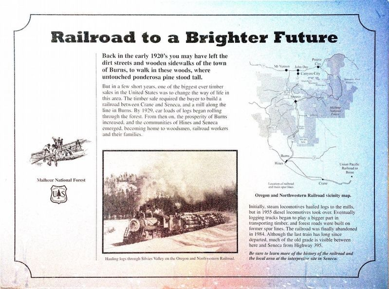 Railroad to a Brighter Future Marker image. Click for full size.