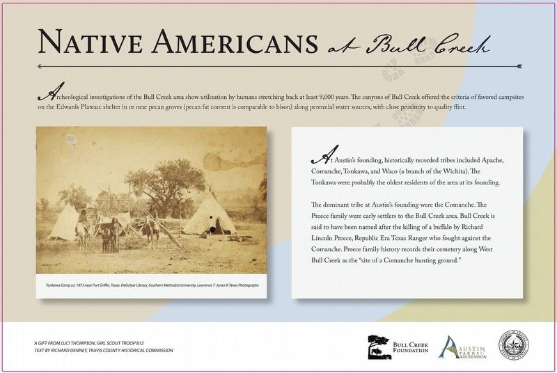 Native Americans at Bull Creek Marker image. Click for full size.