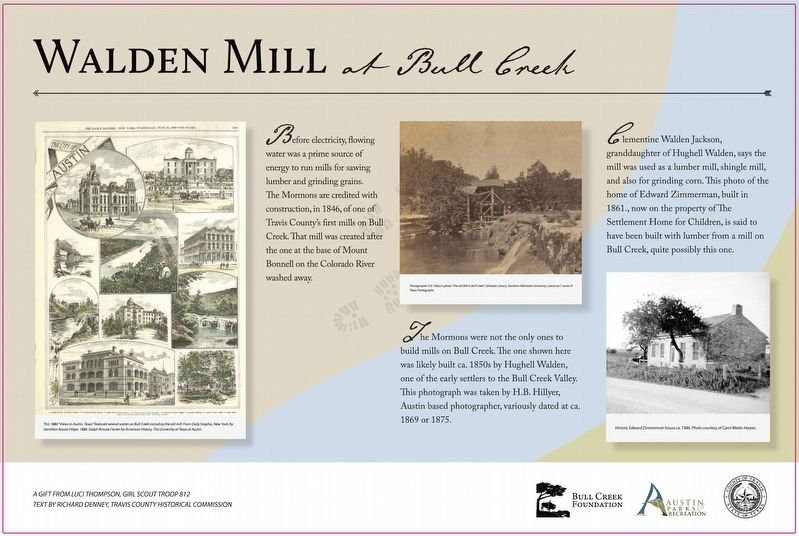 Walden Mill at Bull Creek Marker image. Click for full size.