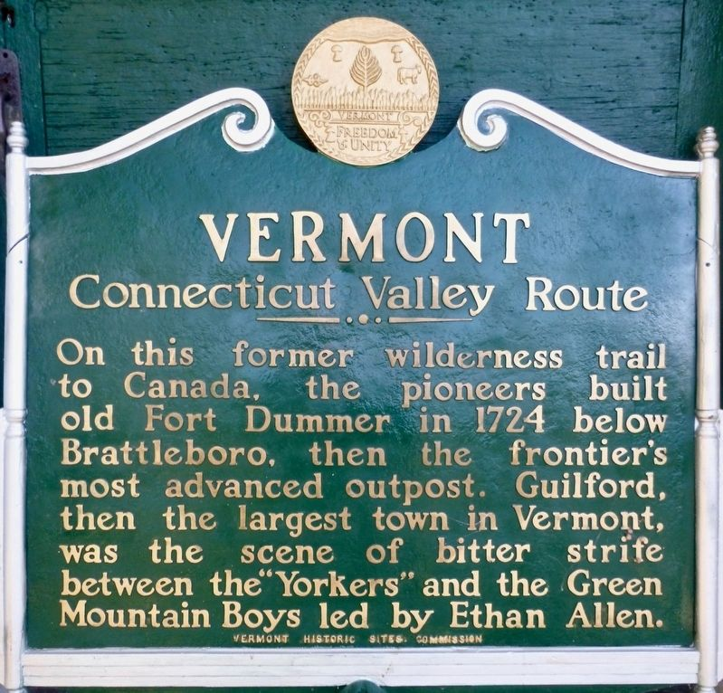 Vermont - Connecticut Valley Route Marker image. Click for full size.