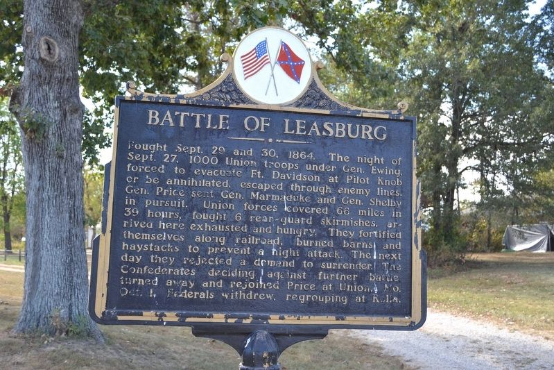 Battle of Leasburg Marker image. Click for full size.