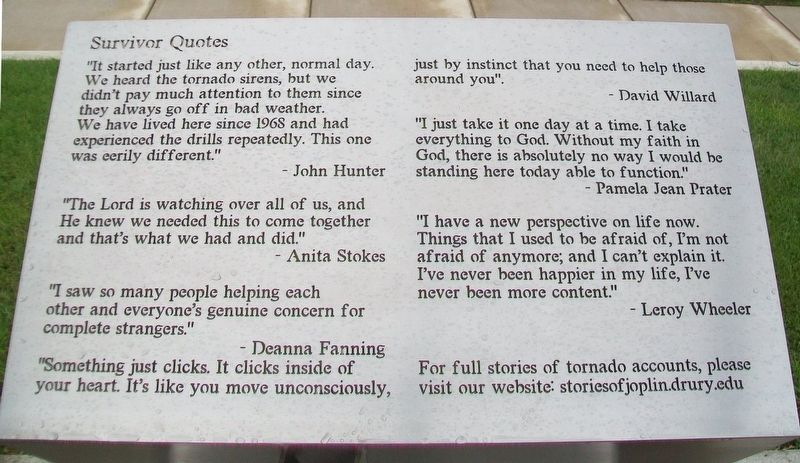 Survivor Quotes Marker image. Click for full size.