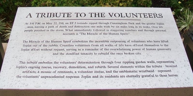 A Tribute to the Volunteers Marker image. Click for full size.