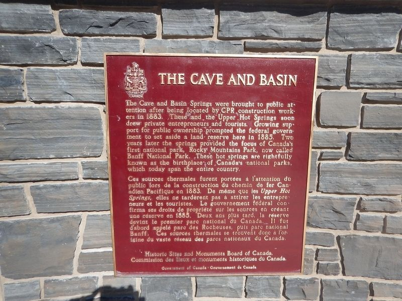 The Cave and Basin Marker image. Click for full size.
