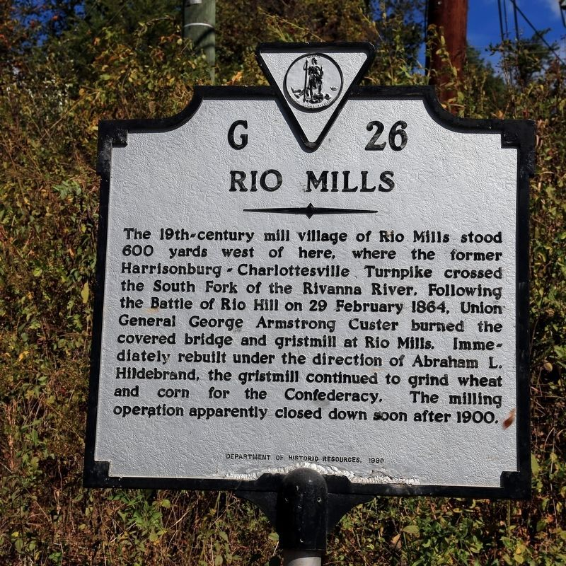 Rio Mills Marker image. Click for full size.