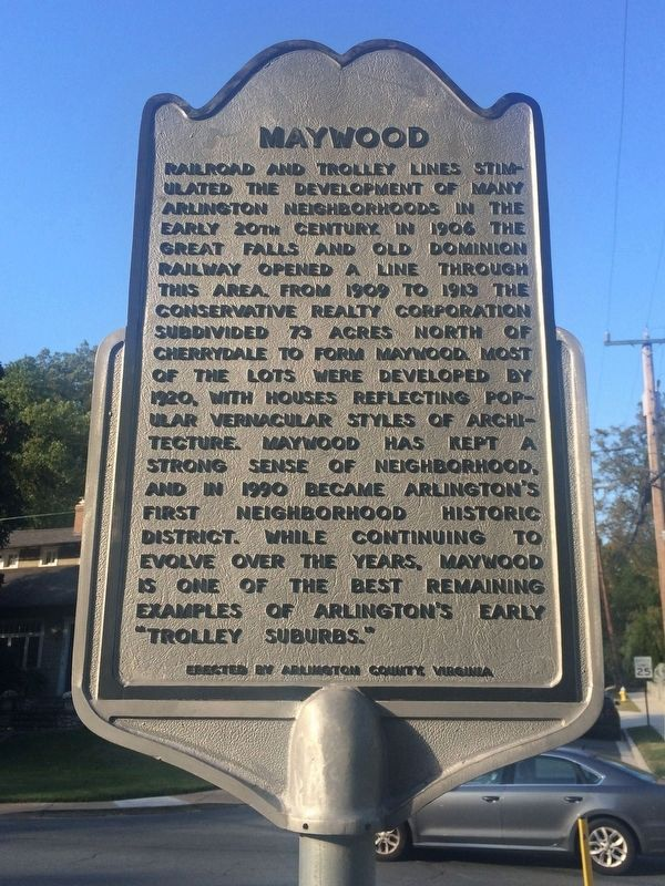 Maywood Marker image. Click for full size.