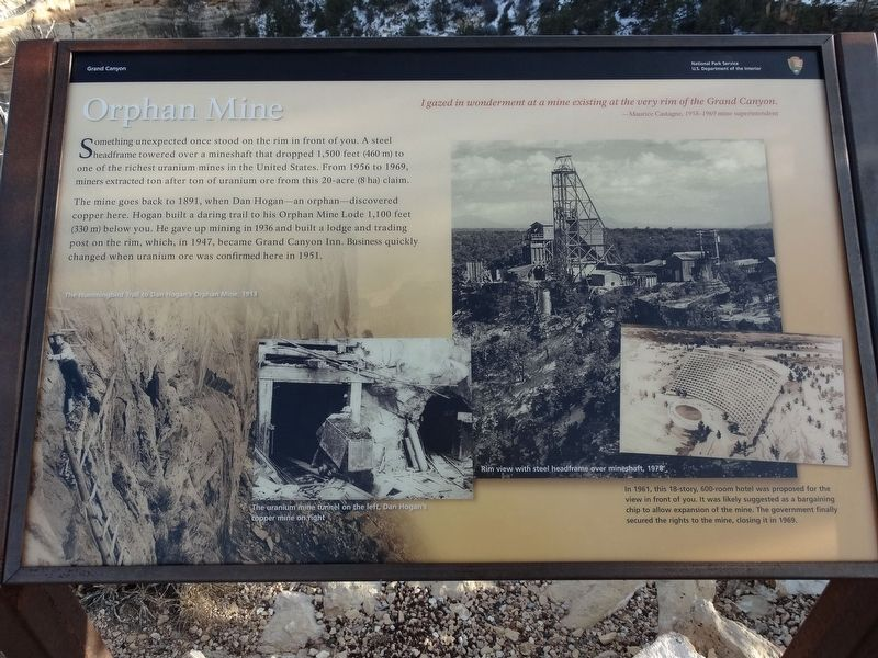 Orphan Mine Marker image. Click for full size.