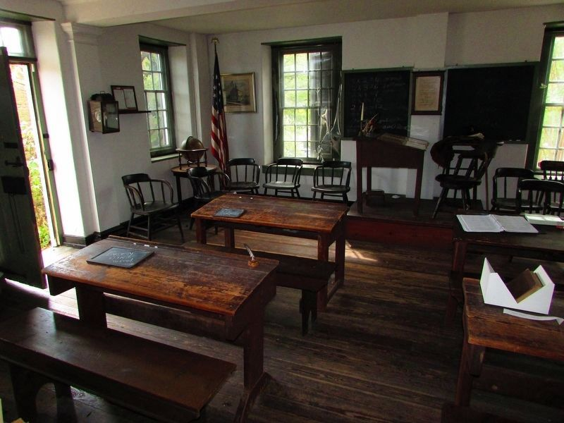 Inside the Concord School House image. Click for full size.