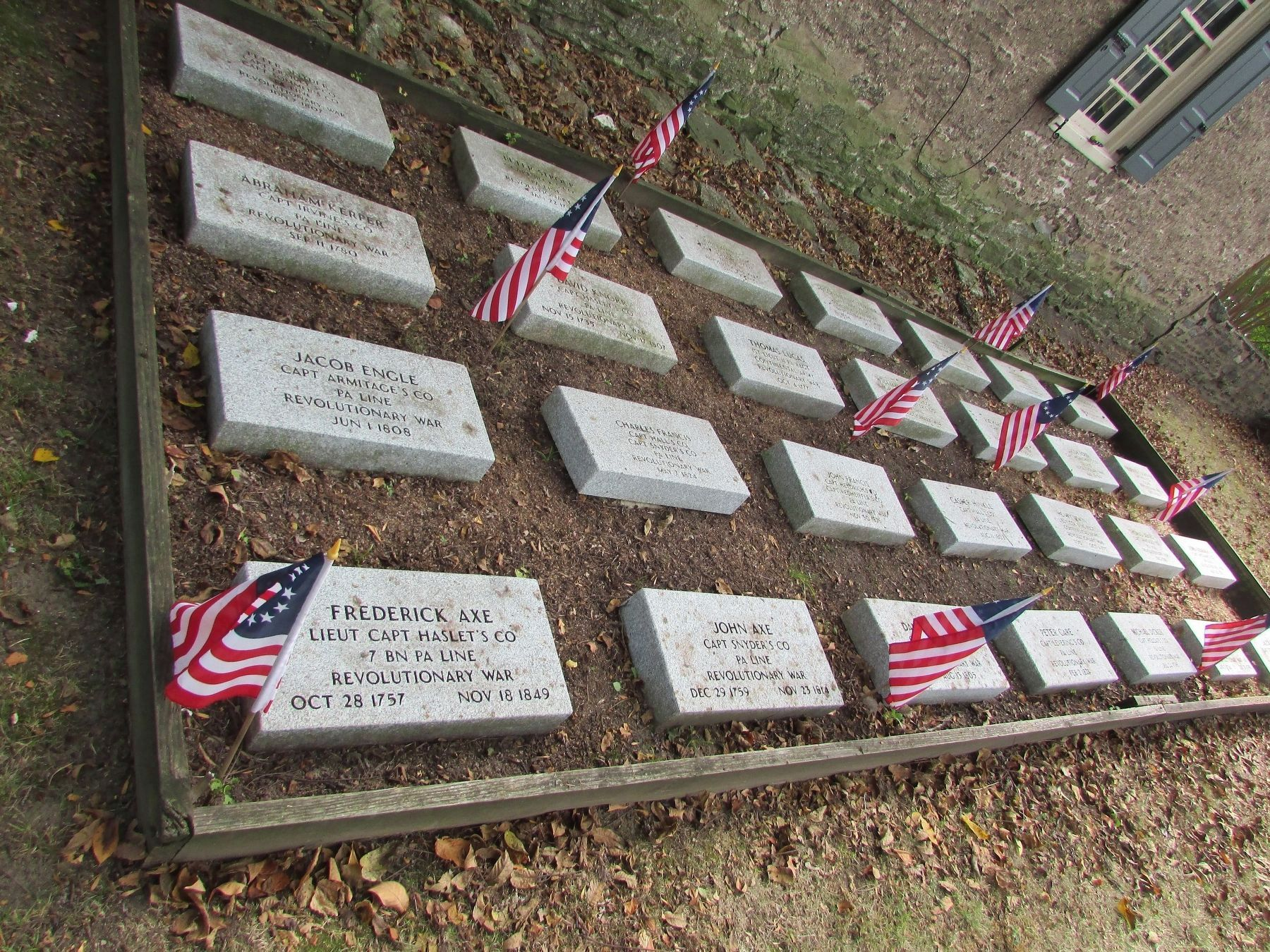 Revolutionary Soldiers Grave Markers image. Click for full size.