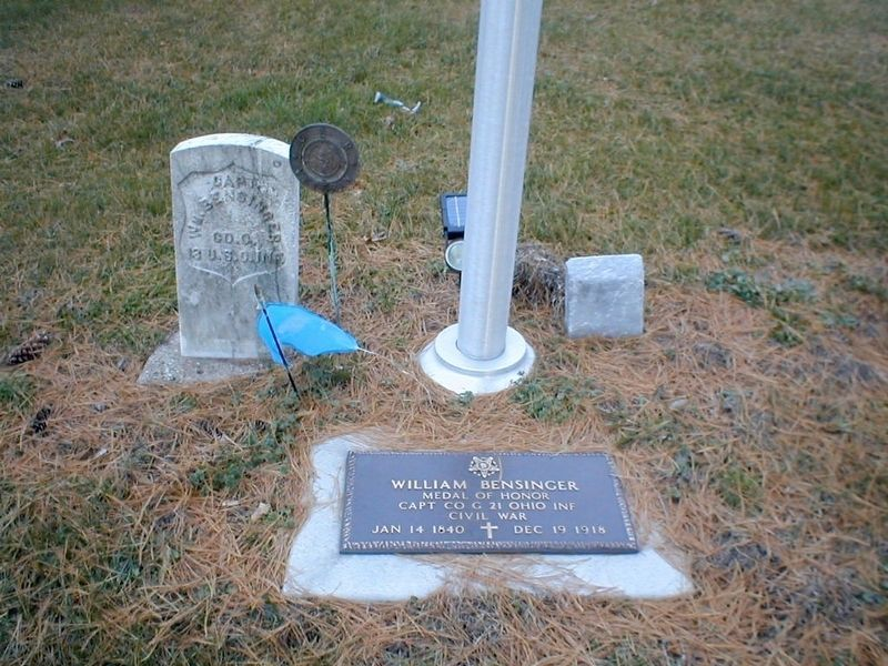 William Bensinger grave site image, Touch for more information