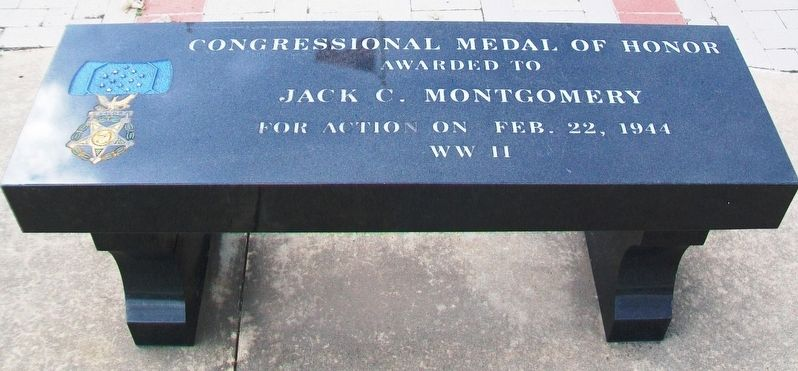 Jack C. Montgomery Memorial Bench image. Click for full size.