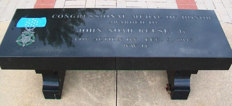 John Noah Reese, Jr. Memorial Bench image. Click for full size.