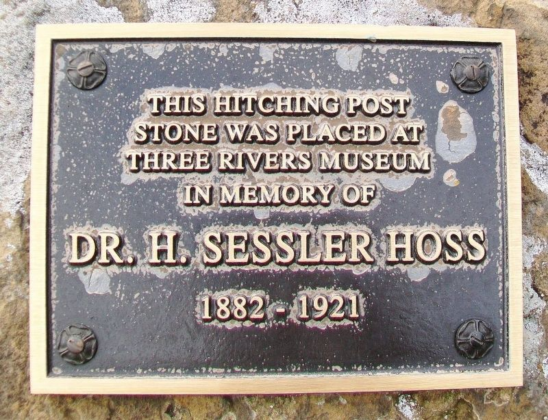 Hitching Post Stone Marker image. Click for full size.