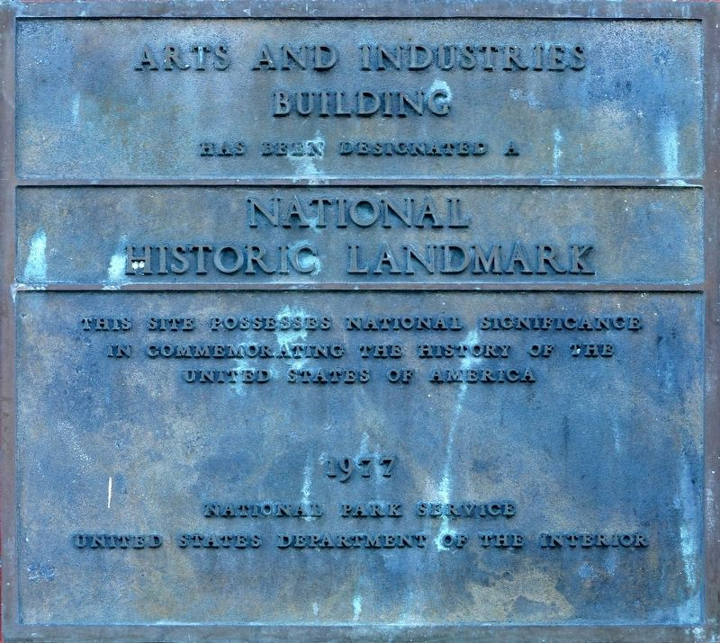 Arts and Industries Building Marker image. Click for full size.