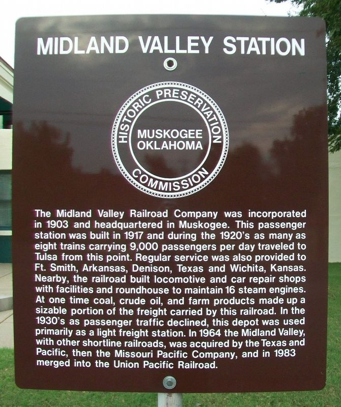 Midland Valley Station Marker image. Click for full size.