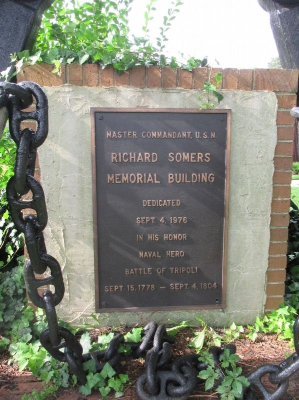 Richard Somers Memorial Building Marker image. Click for full size.