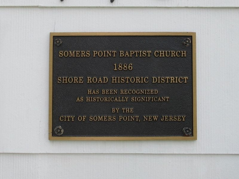 Somers Point Bapist Church Marker image. Click for full size.
