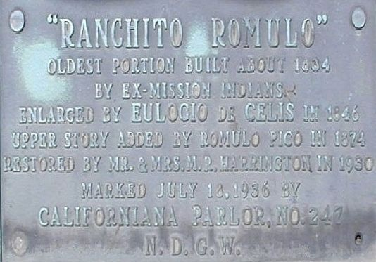 An additional, nearby Romulo Ranchito marker image. Click for full size.