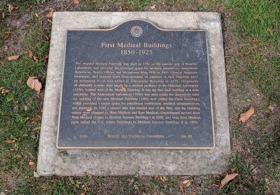 First Medical Buildings Marker image. Click for full size.