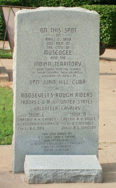 Troops L & M, Roosevelt's Rough Riders Memorial image. Click for full size.