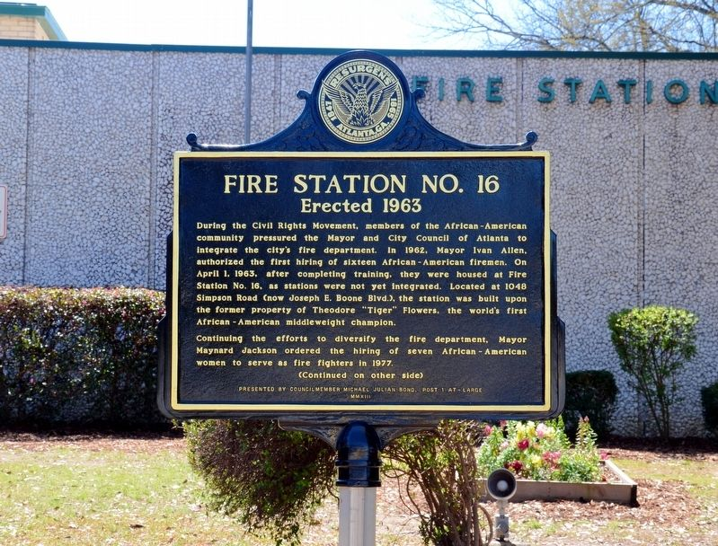Fire Station No. 16 Marker (Side 1) image. Click for full size.