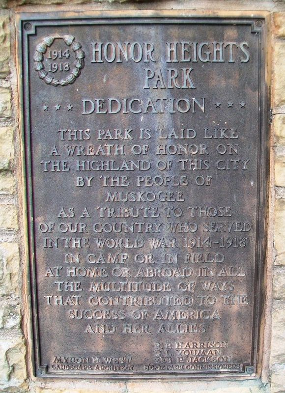 Honor Heights Park Marker image. Click for full size.